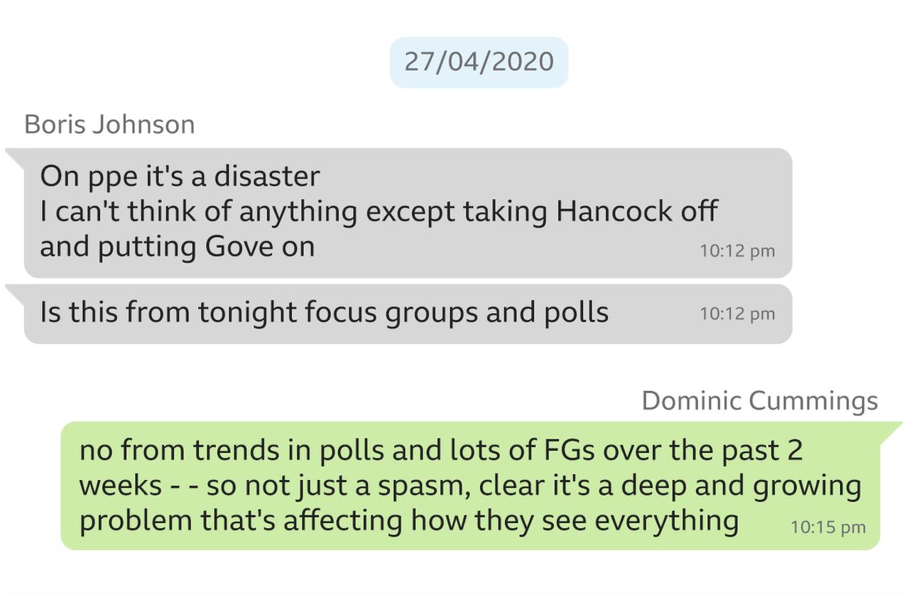 Screenshot of What'sApp message