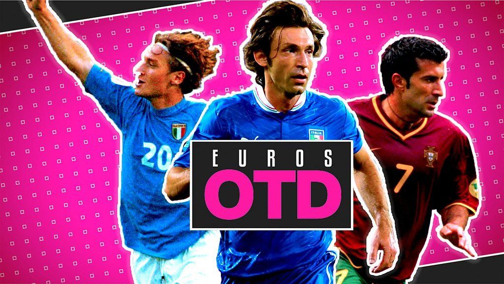 Euros On This Day - 24 June: Pirlo's peerless penalty, Beckham's ballooned effort and Figo & Totti sparkle