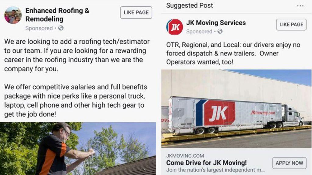 bbc.co.uk - Facebook job ads 'discriminated by gender