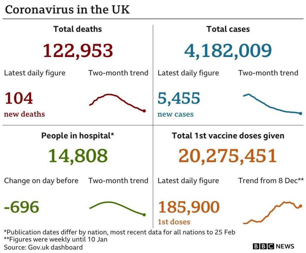 Daily coronavirus statistics