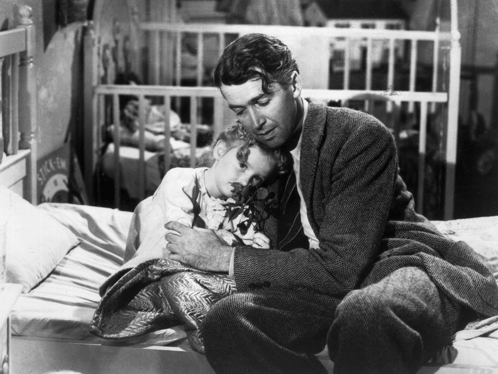 The beloved film starred James Stuart as George Bailey. Karolyn Grimes played Zuzu, his daughter.