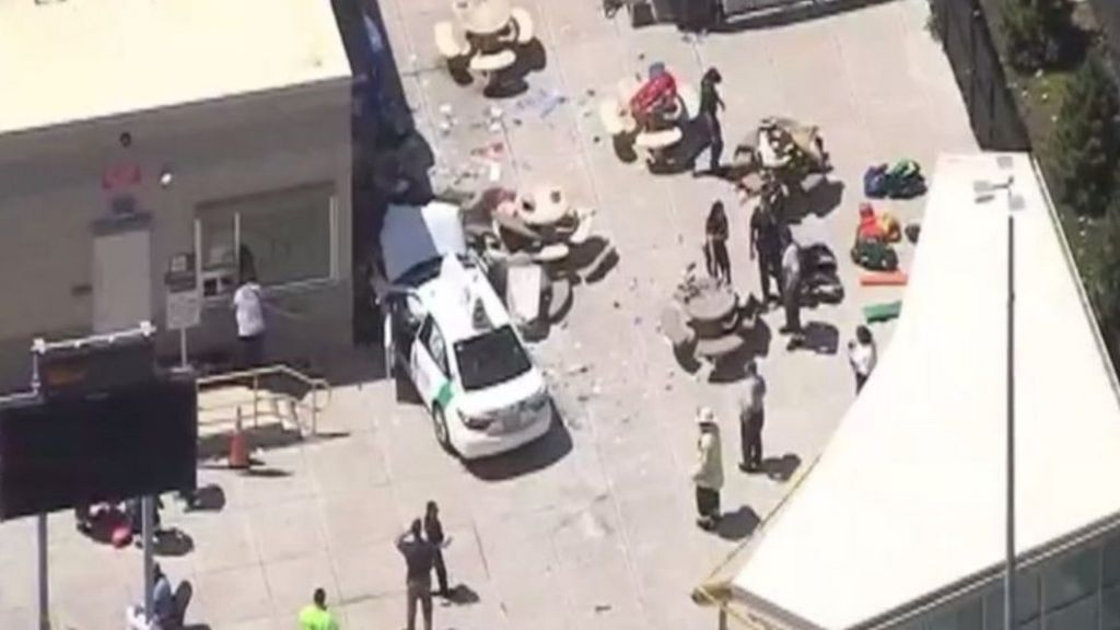 Boston airport car crash: 'Several hurt' near Logan airport – BBC News