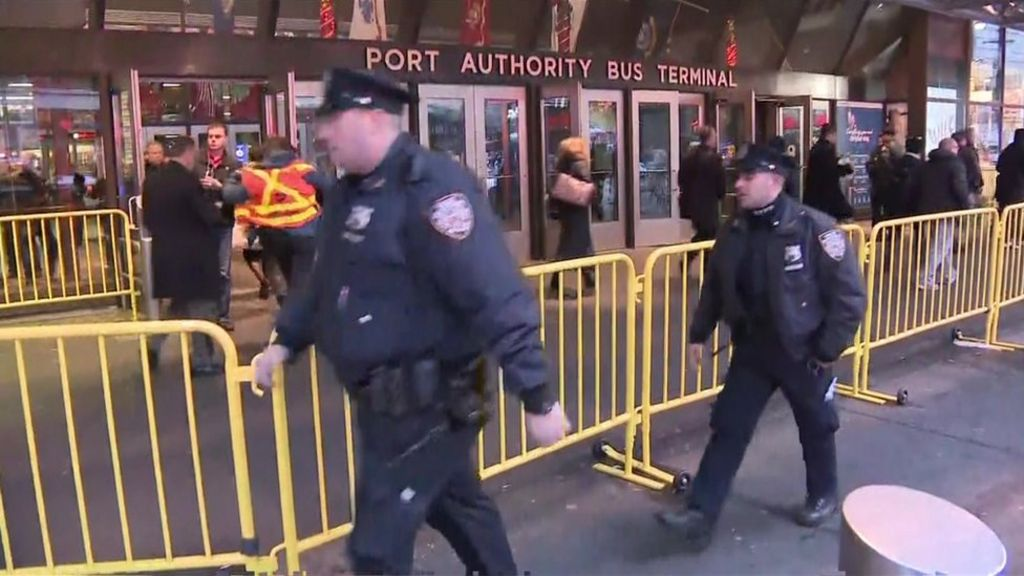 'Explosion' at Manhattan bus terminal