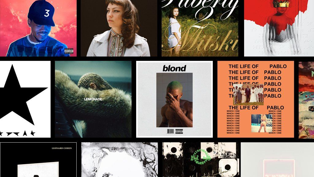 Sleeves for the some of the albums of the year 2016
