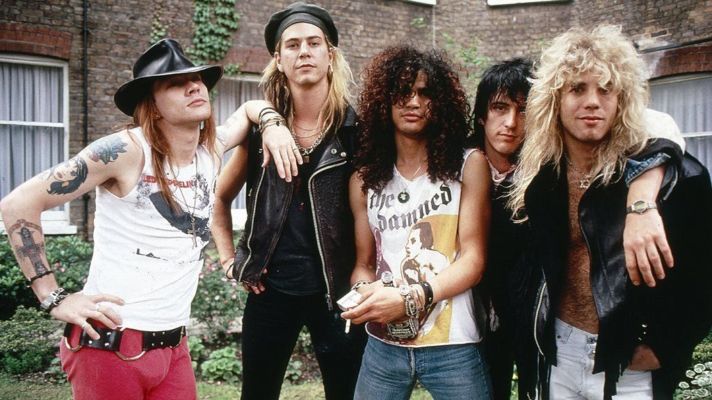 Guns N' Roses in the UK in 1986