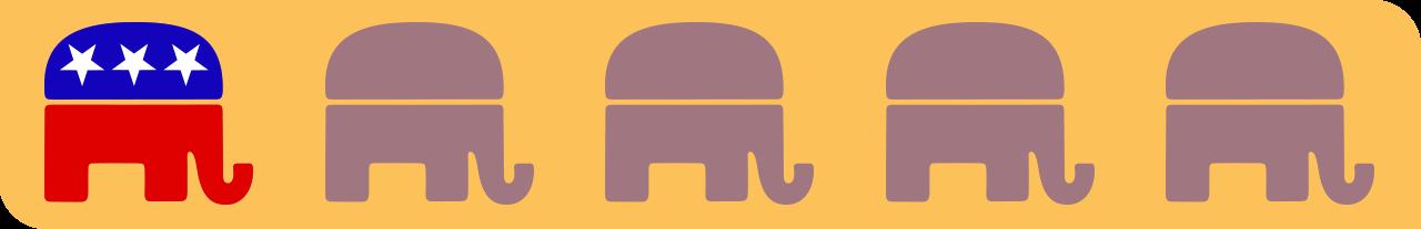 one elephant