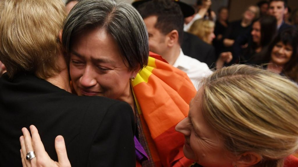 Tears of joy from gay Australian senator