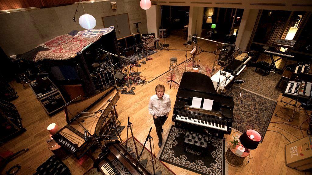 Paul McCartney in the studio