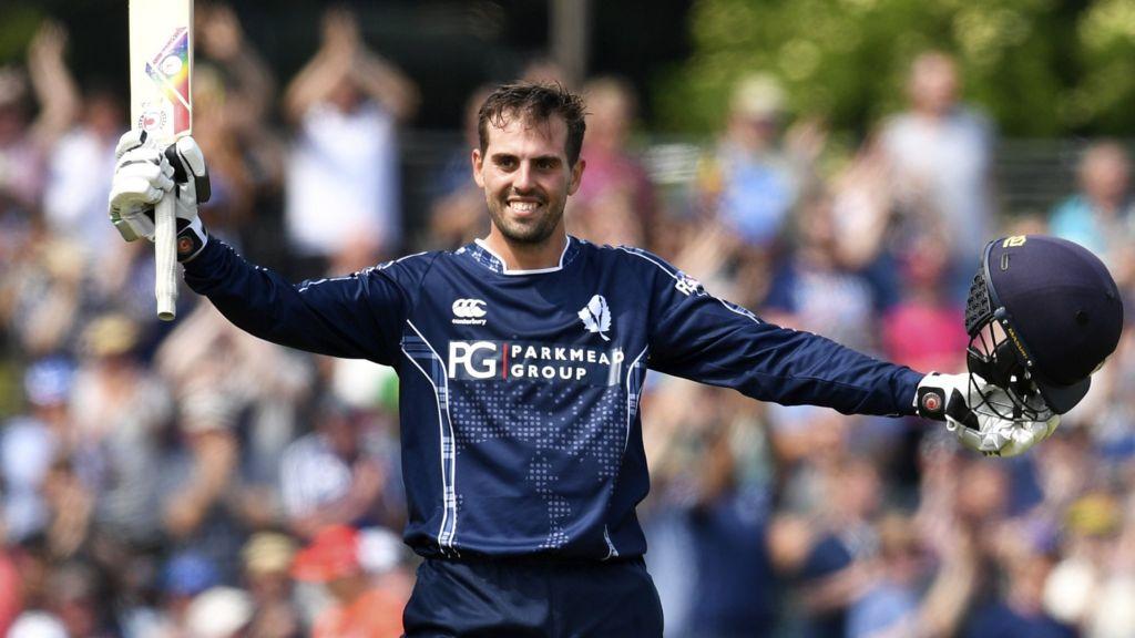 Calum MacLeod scored 140* runs off just 94 balls against England in Edinburgh. (Photo - BBC Sport)