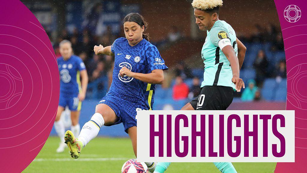Women's Super League champions Chelsea beat Brighton 3-1 thumbnail