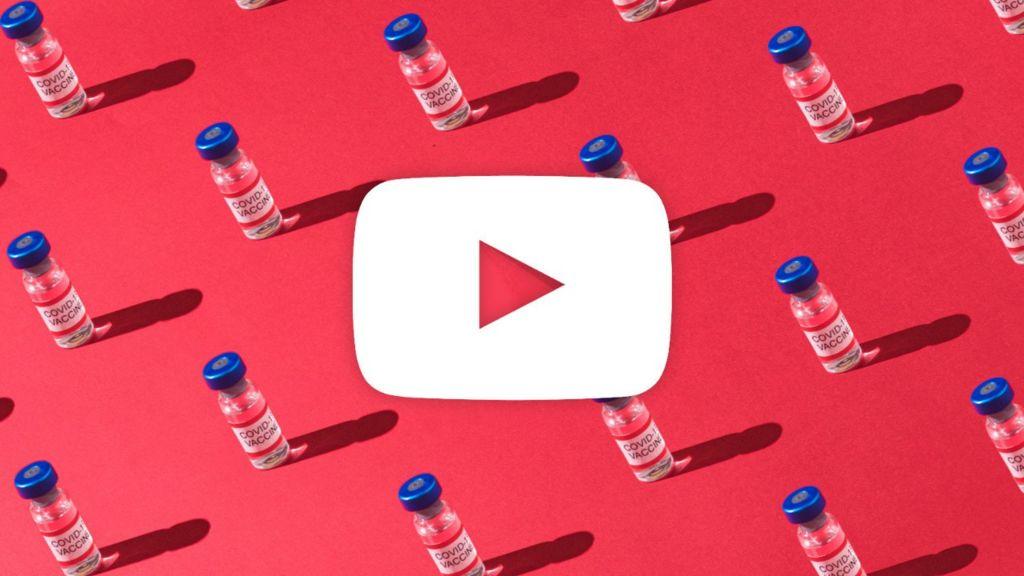 YouTube logo among vaccines