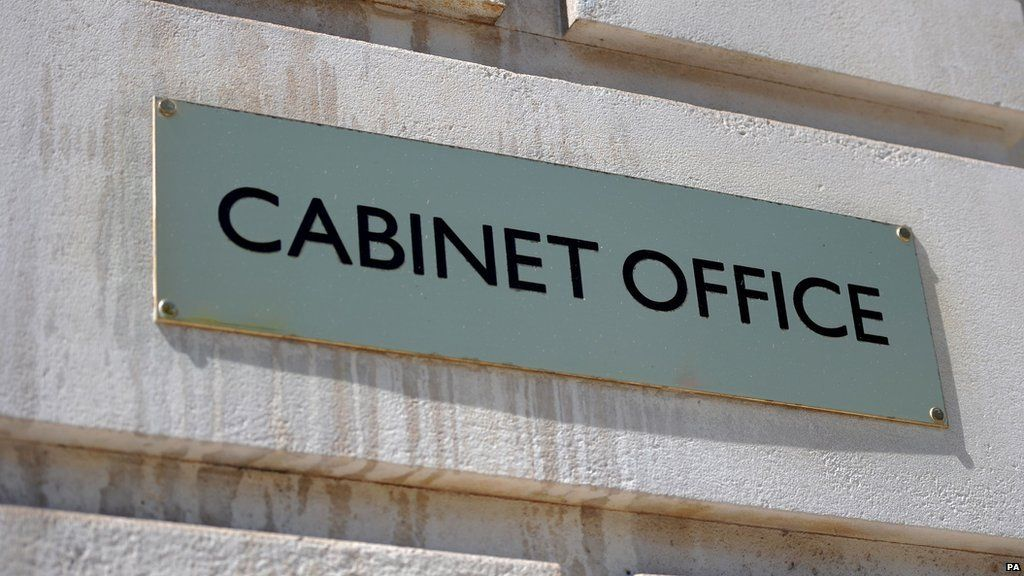 Cabinet Office sign