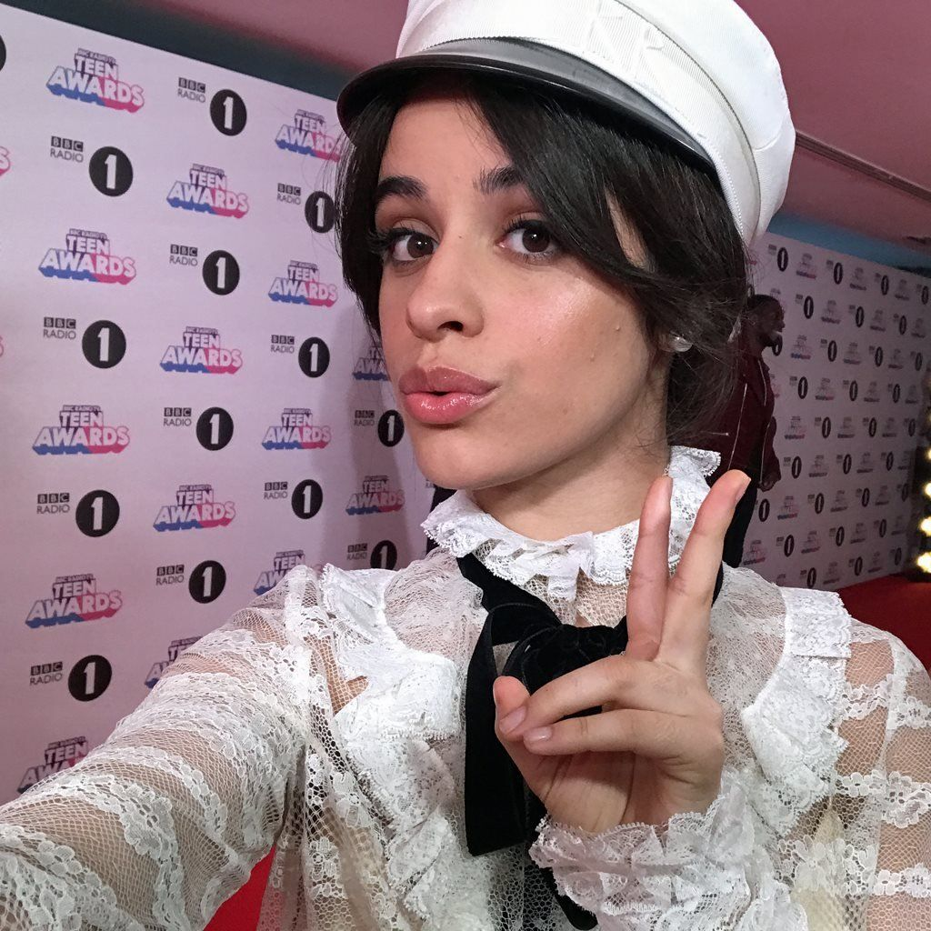 Camila Cabello's selfie from the Radio 1 Teen Awards