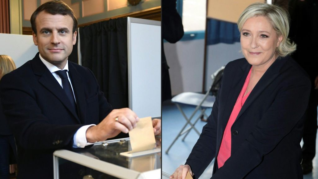 French election: Turnout sharply down in Le Pen-Macron battle