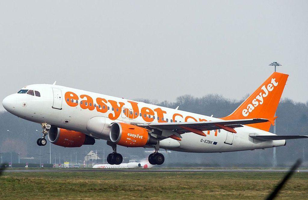 An Easyjet plane taking off
