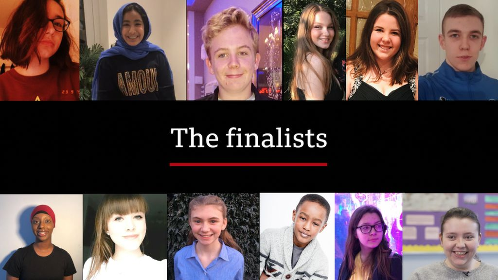 The twelve BBC Young Reporter Competition Finalists