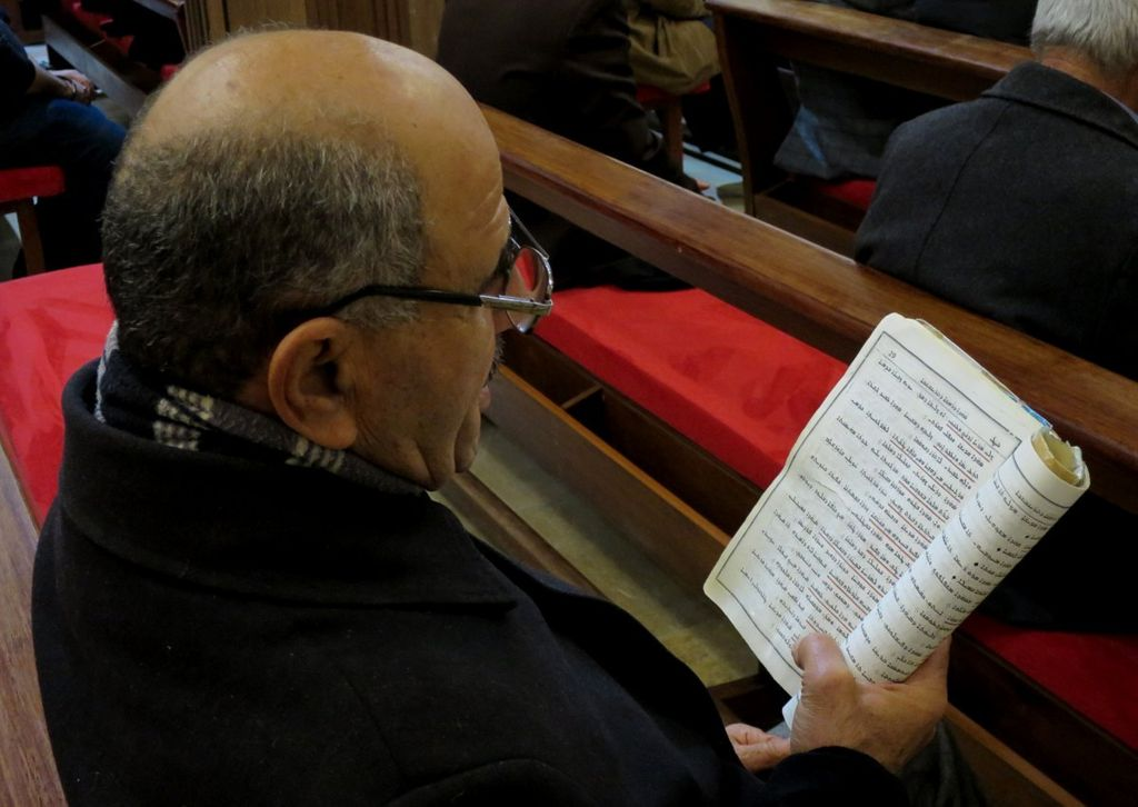 Member of the congregation at St Joseph's