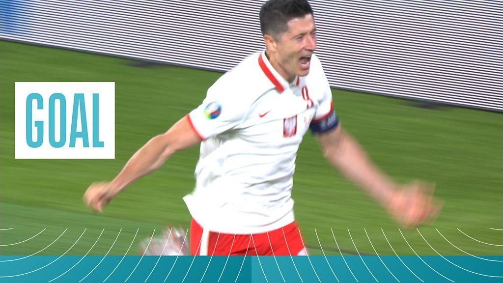 Euro 2020: Robert Lewandowski scores crucial equaliser for Poland against Spain - bbc