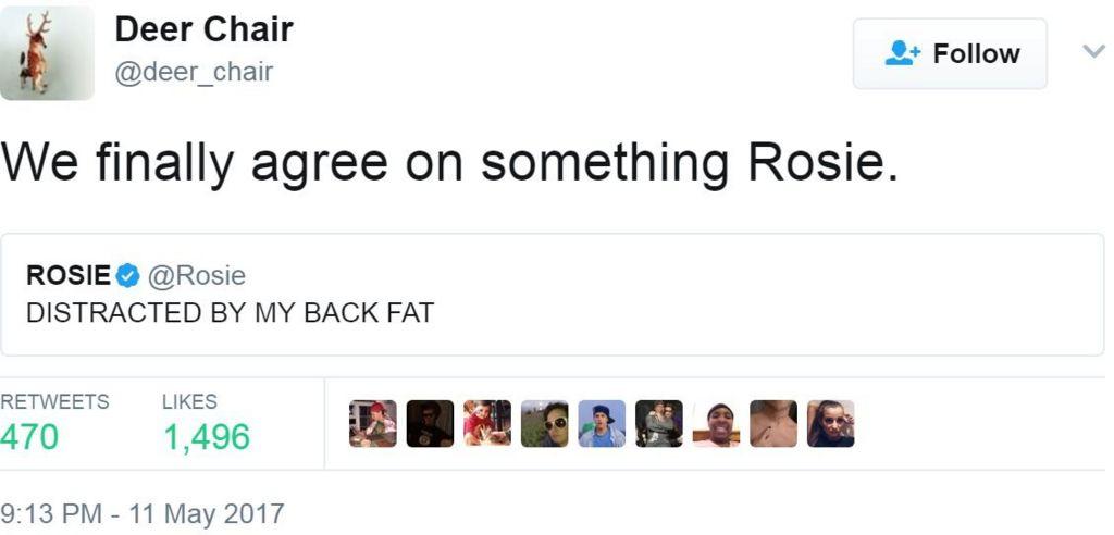 Screen grab of tweet by @deer_chair
