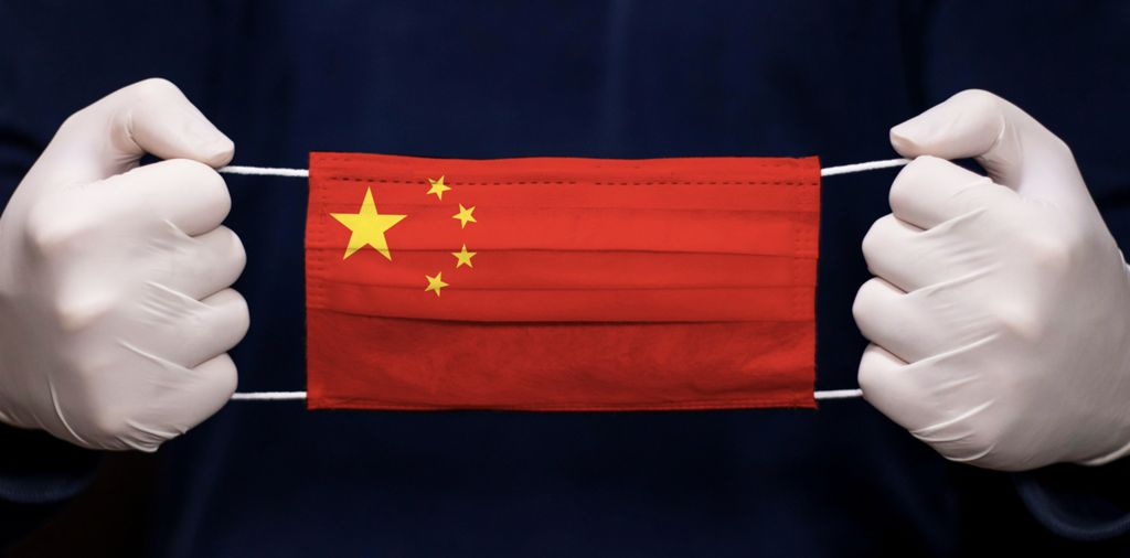 Chinese flag face mask