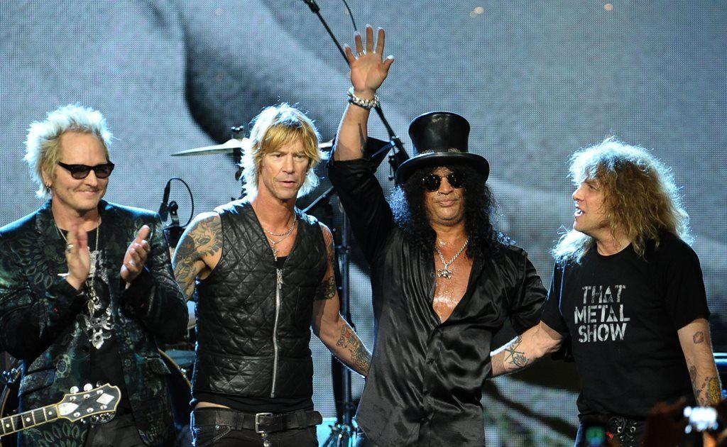 Matt Sorum, Duff McKagan, Slash and Steven Adler