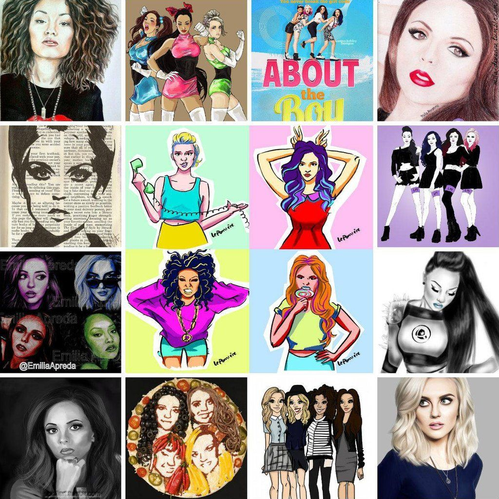 Fan portraits of Little Mix