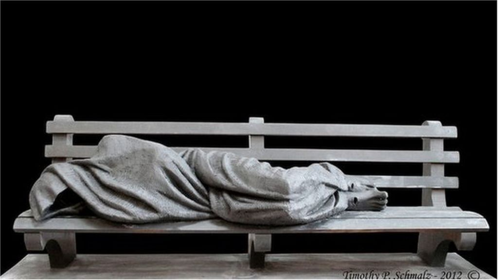 Homeless Jesus statue arrives in city