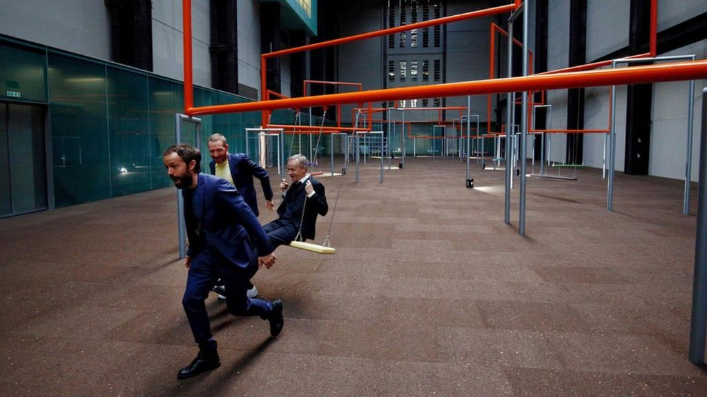 Tate Modern's Turbine Hall turns into a giant adult playground