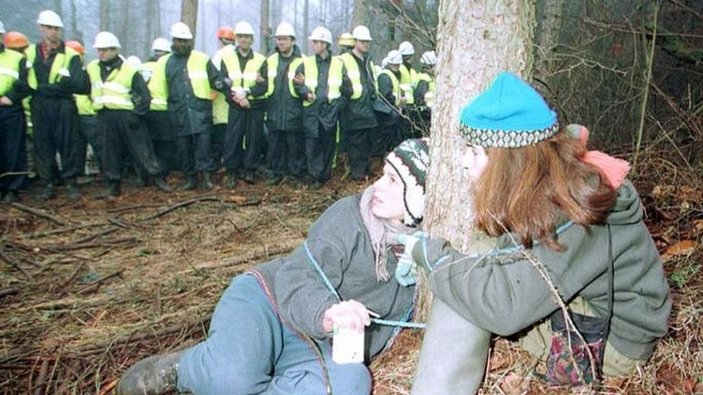 Image result for Hug a Tree protesters  UK images