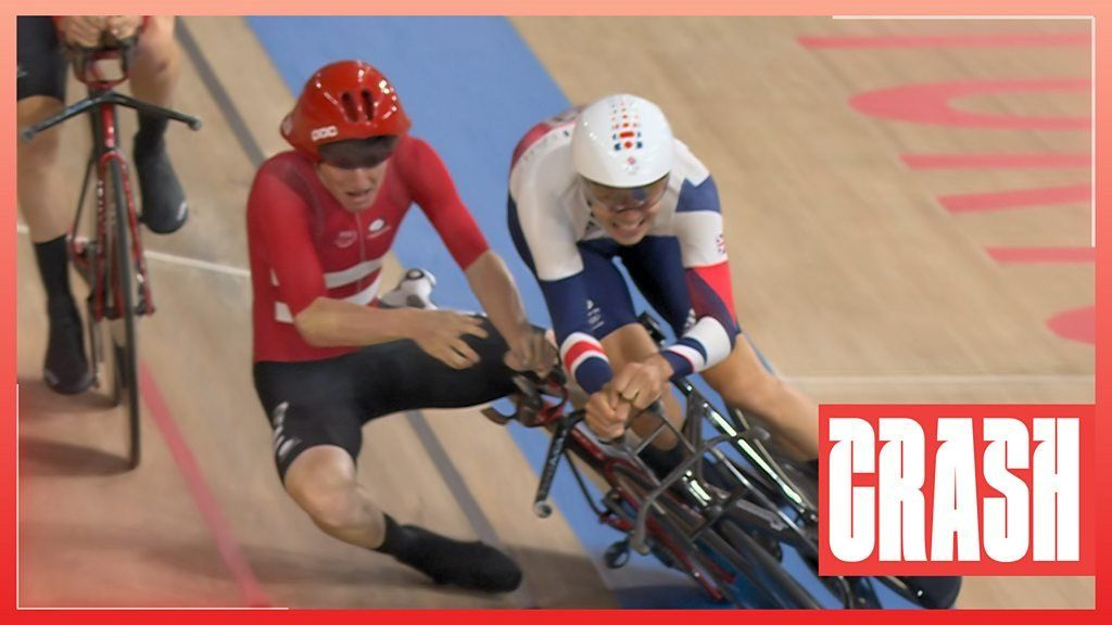 Tokyo Olympics: GB and Denmark collide in mens team pursuit