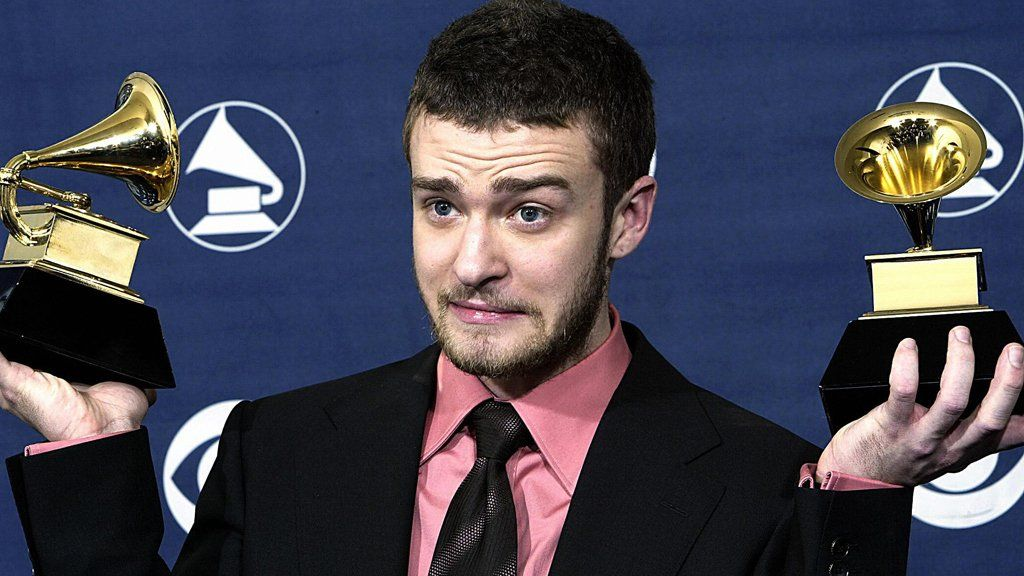 Justin Timberlake at the Grammy awards