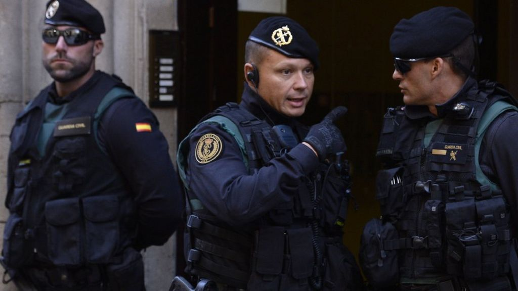 Spanish police raid Catalan government