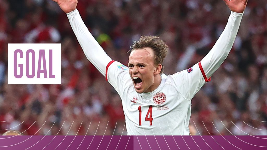 'What a goal!' - Damsgaard curls in superb strike from range