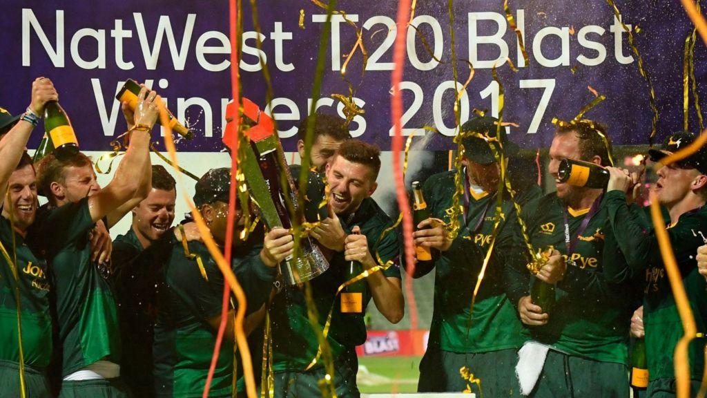 T20 Blast final: Notts Outlaws beat Birmingham Bears to claim maiden