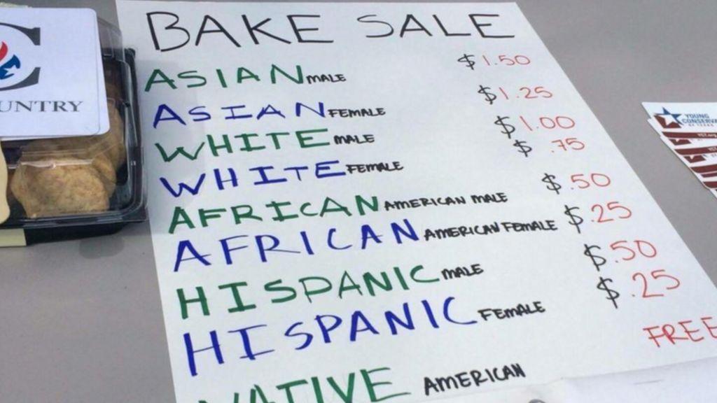 'Affirmative Action Bake Sale' sparks racism protest - BBC ...