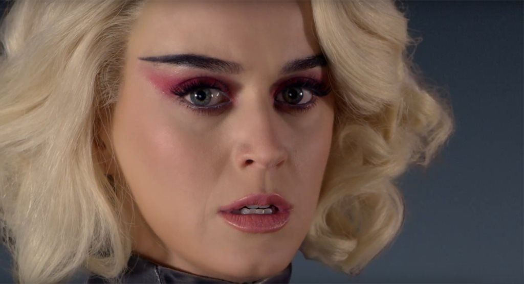 Final scene of Katy Perry's Chained to the Rhythm video