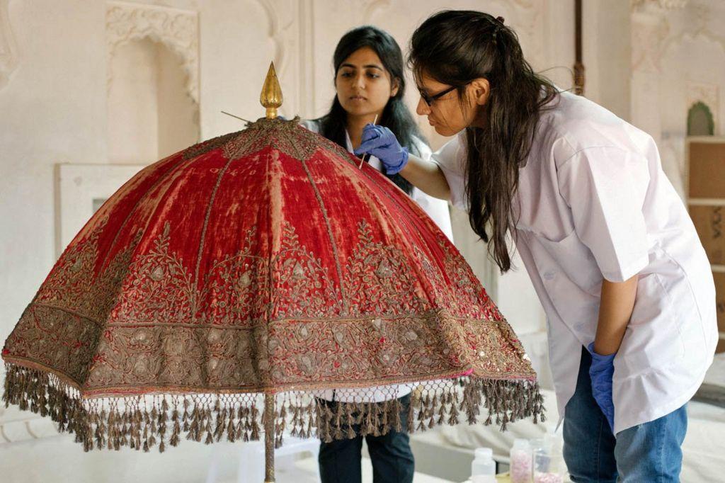 Mehrangarh tent restoration