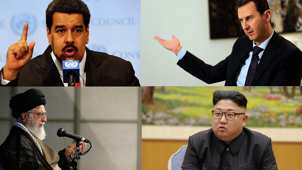 Who's in Trump's new axis of evil?
