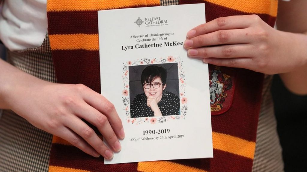 Priest at Lyra McKee funeral 'was moved to tears' - BBC News