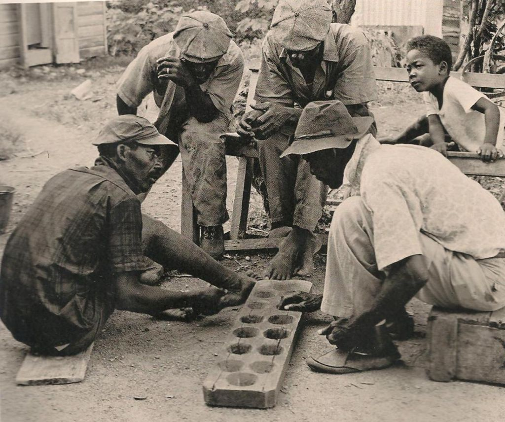 A Warri game being played in Antigua in the 1970s