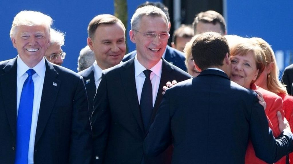 Did French president snub Donald Trump at Nato summit?