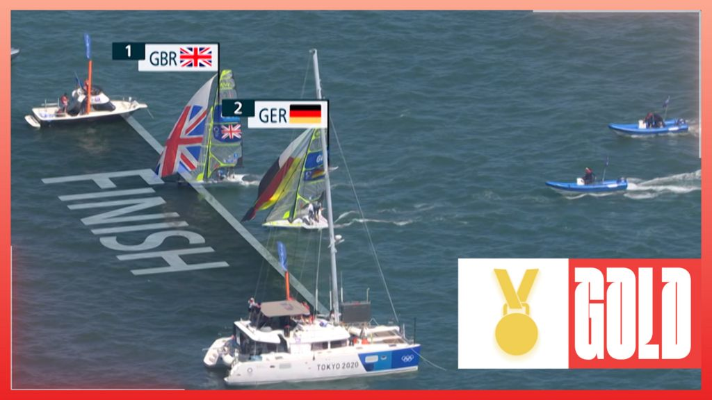 'Centimetres on the line' - Team GB win thrilling sailing gold against Germany