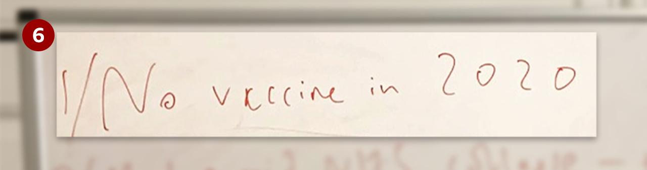 Whiteboard excerpt - No vaccine - 2020