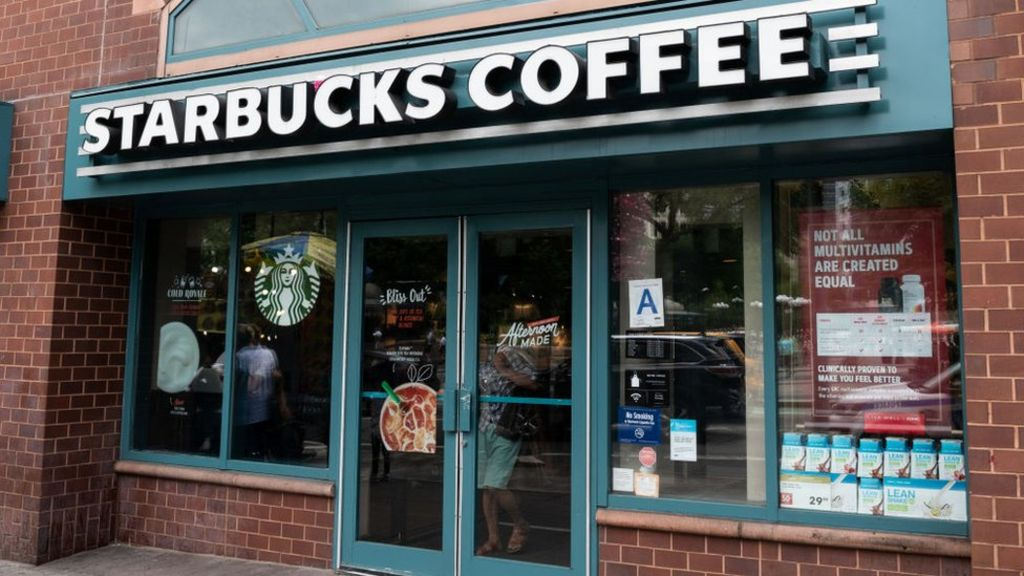a1cd5a80fead Starbucks to ban plastics straws in all stores by 2020 - BBC News