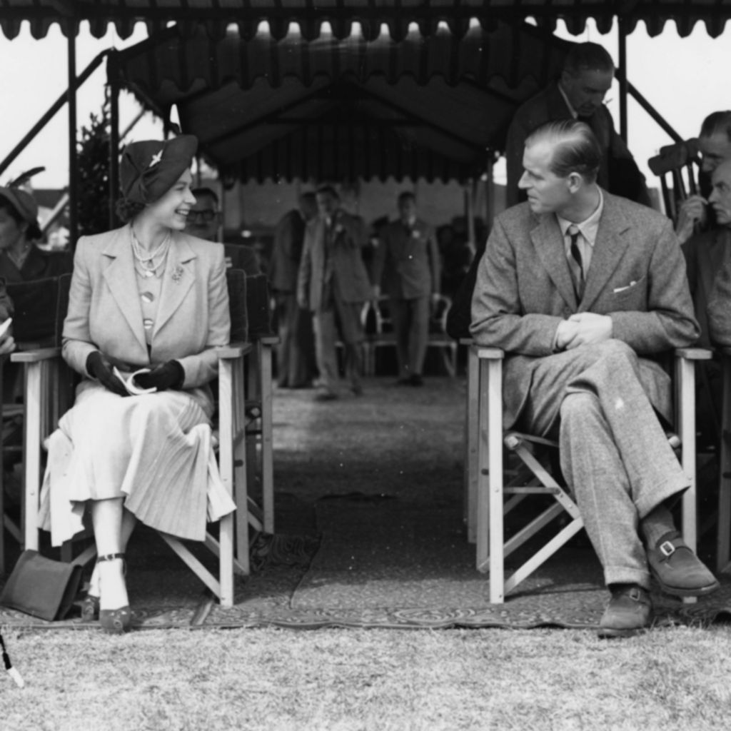 Princess Elizabeth and Prince Philip at the Royal Horse Show, Windsor, 1949