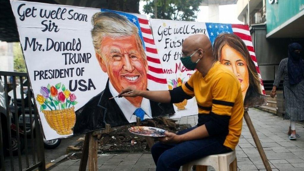 President Trump Has Covid 19 How Global Media Responded Bbc News