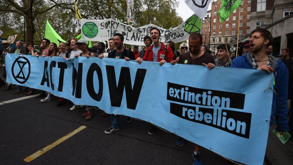 bbc.co.uk - Extinction Rebellion: Climate protesters march on Parliament