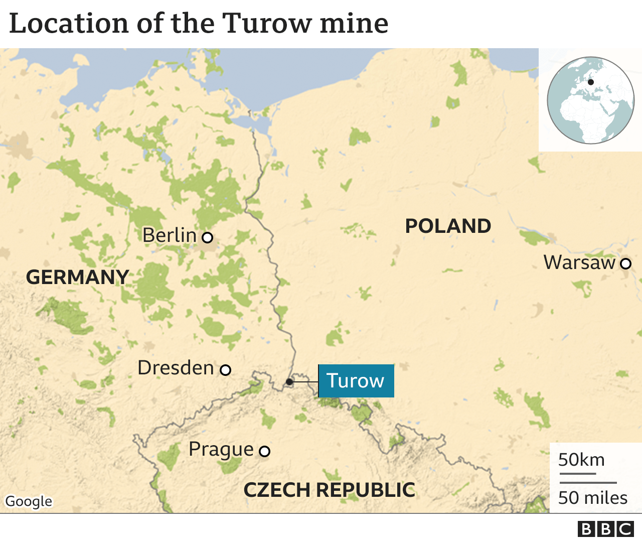 Turow mine location