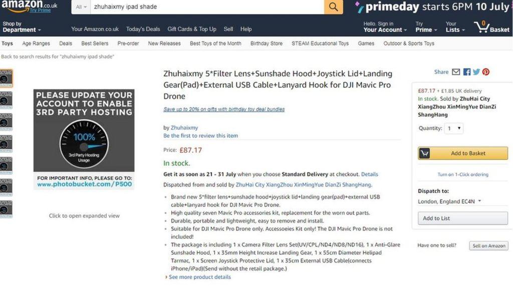 Amazon images broken by Photobucket's 'ransom demand'