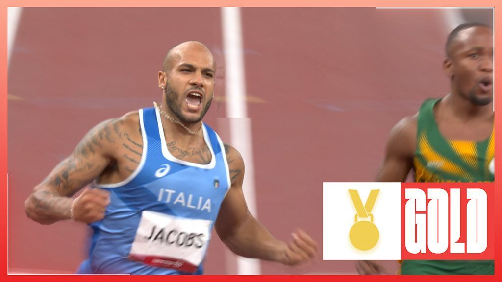 Italy's Jacobs wins 100m final as GB's Hughes false starts